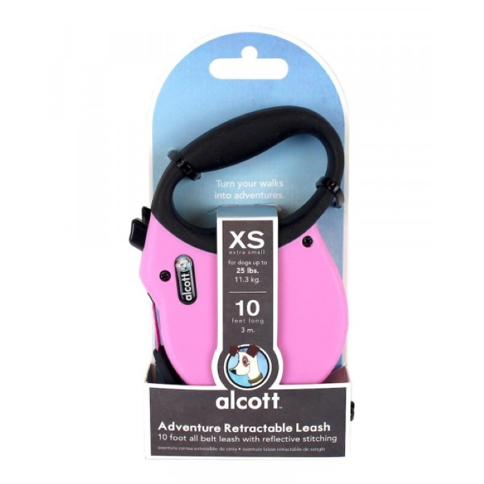 Alcott Adventure Retractable Leash XS Pink 3m