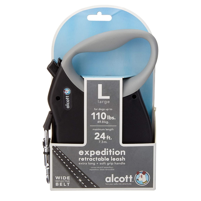 Alcott Expedition Retractable Leash Black 7.3m XL