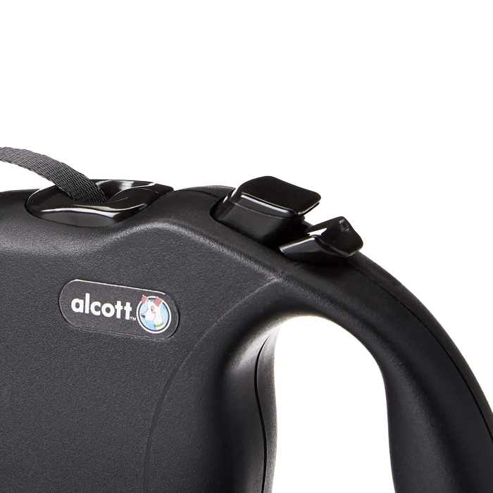 Alcott Wanderer Retractable Lead Black