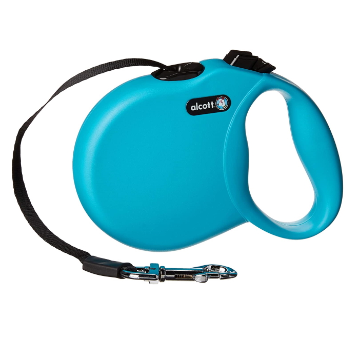 Alcott Wanderer Retractable Leash Blue