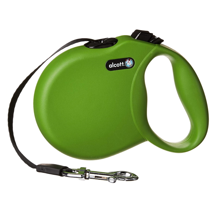Alcott Wanderer Retractable Leash Green
