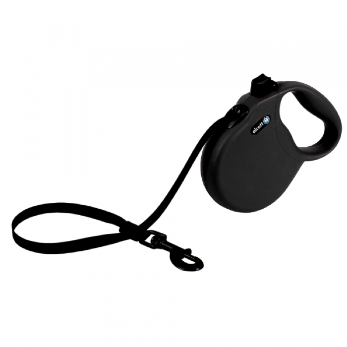 Alcott Wanderer Retractable Leash L Black 4.8m