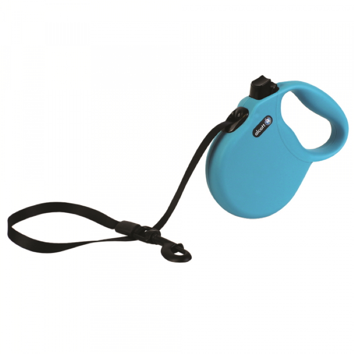 Alcott Wanderer Retractable Leash L Blue 4.8m
