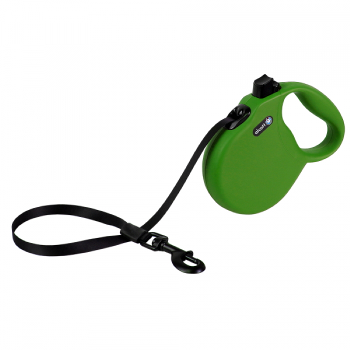 Alcott Wanderer Retractable Leash L Green 4.8m