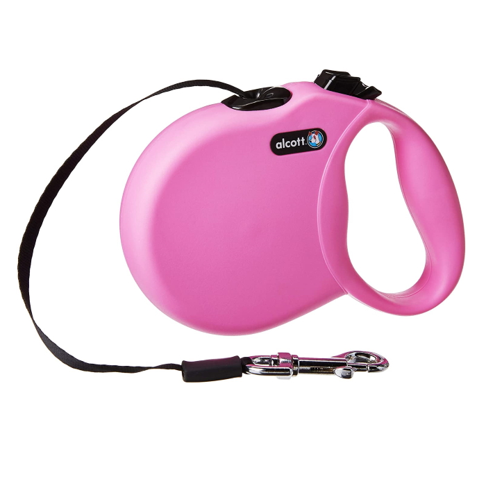 Alcott Wanderer Retractable Leash Pink