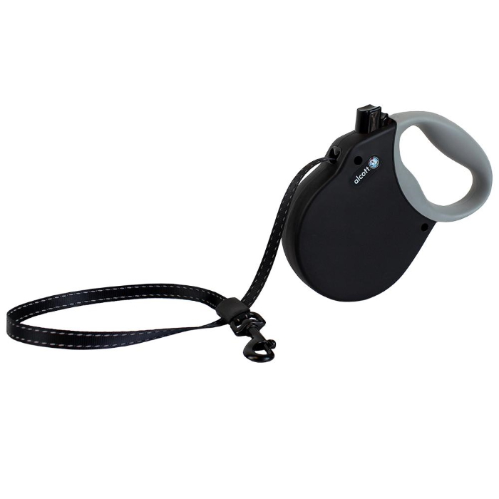 Black Alcott Adventure Retractable Dog Lead