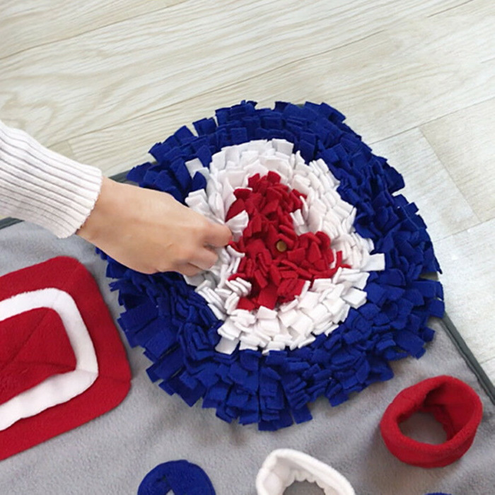 Dog Snuffle Activity Blanket Red_White_Blue