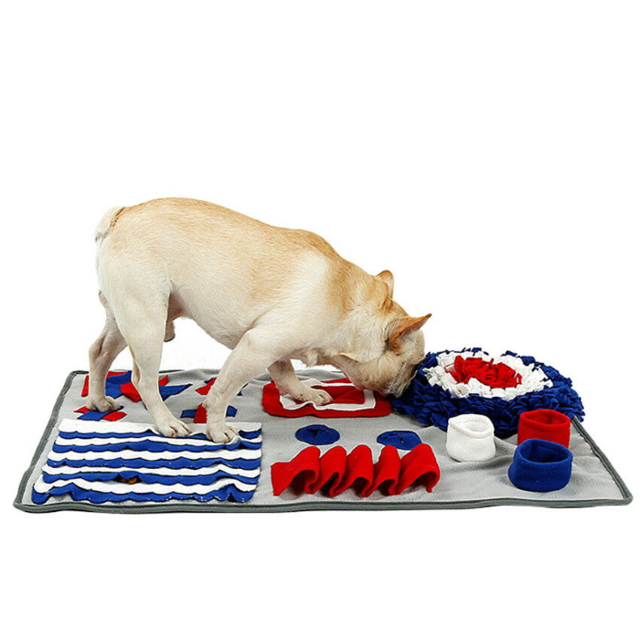 Dog Snuffle Activity Mat Red_White_Blue