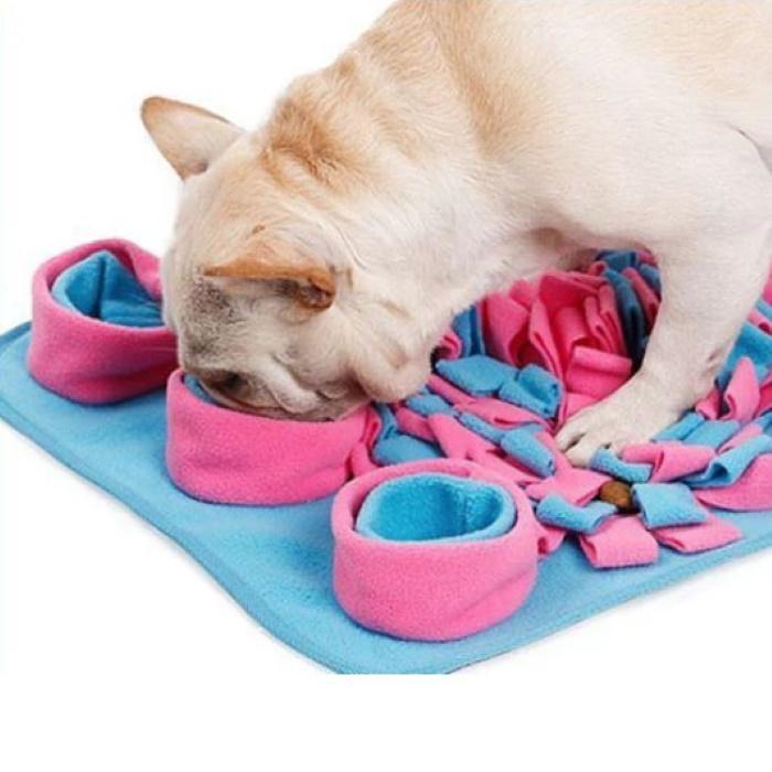 Dog Snuffle Activity Nosework Mat Pink_Blue