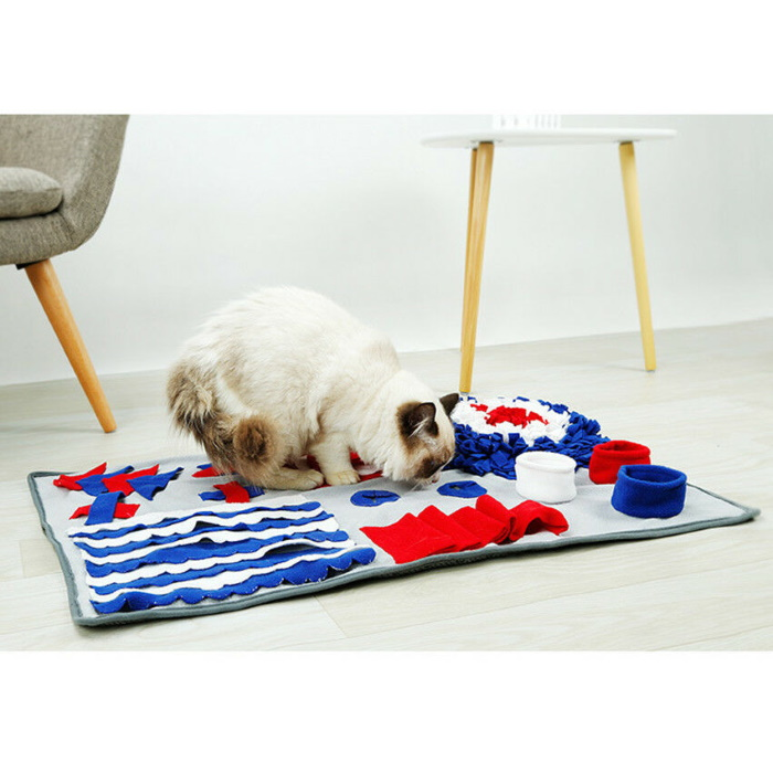 Dog Snuffle Mat Cat Red_White_Blue