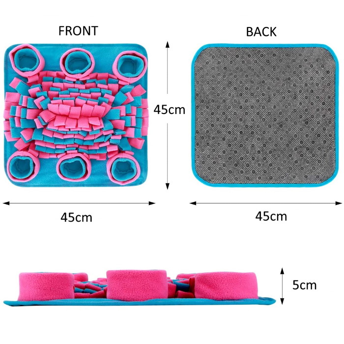 Dog Snuffle Mat Pink_Blue Dimensions