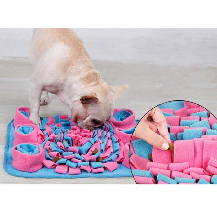 Dog Snuffle Mat Pink_Blue