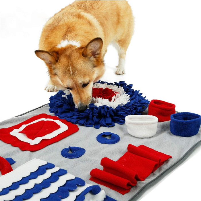 Dog Snuffle Mat Red_White_Blue