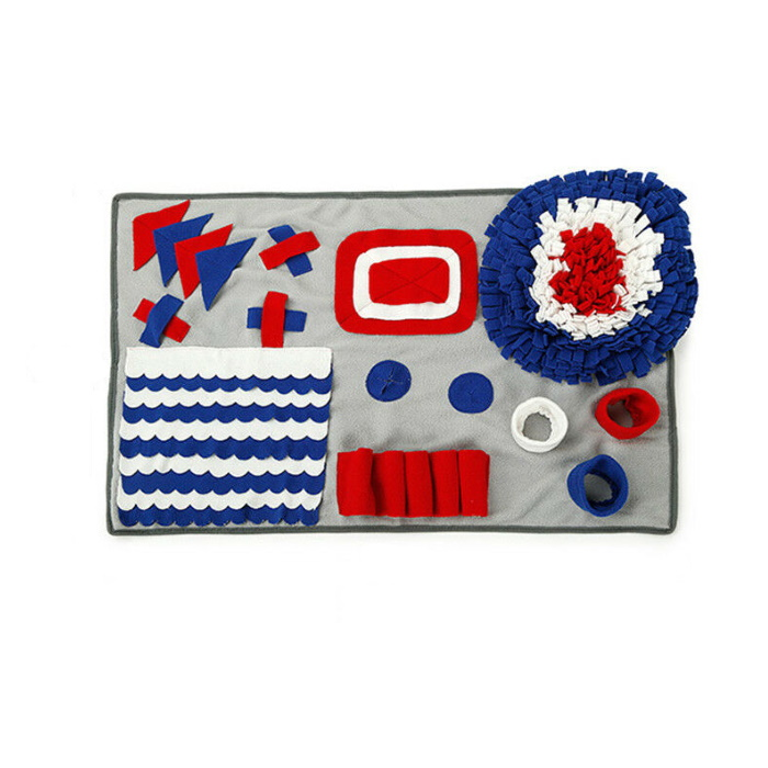 Dog Snuffle Nosework Blanket Red_White_Blue 50x75