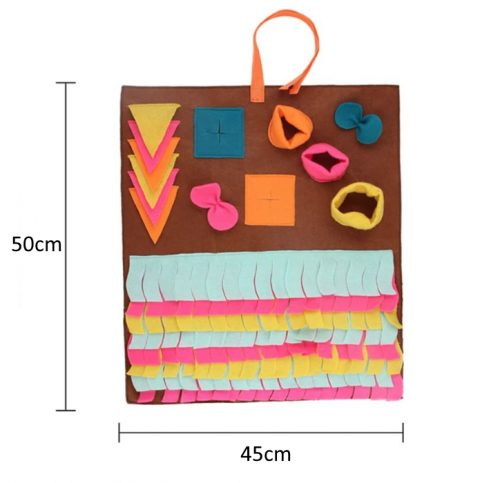 Interactive Pet Snuffle Pad Brown 45x50cm
