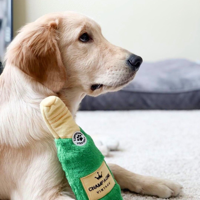 Zippy Paws Crusherz Dog Toy - Champagne_Wonton