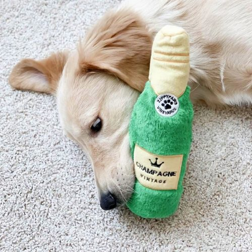 Zippy Paws Crusherz Dog Toy_Champagne_Wonton