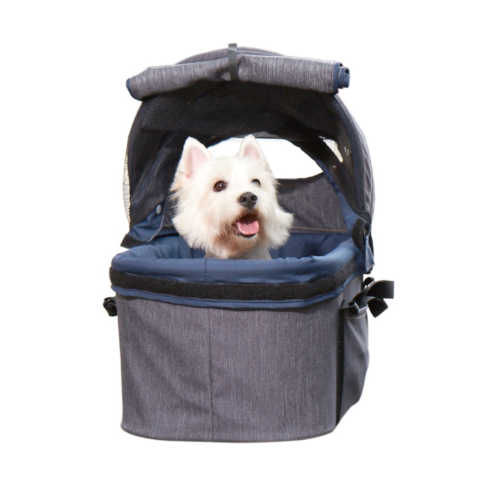 Ibiyaya Cleo Denim Multifunctional Pet Stroller Cabin