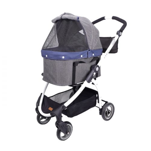 Ibiyaya Cleo Denim Multifunctional Pet Stroller & Car Seat Travel System