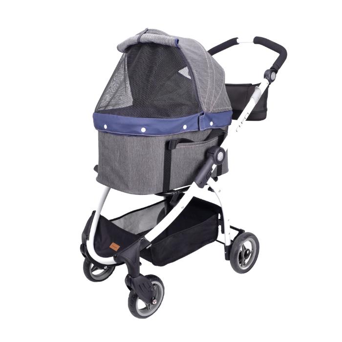 Ibiyaya Cleo Denim Multifunctional Pet Stroller & Car Seat Travel System