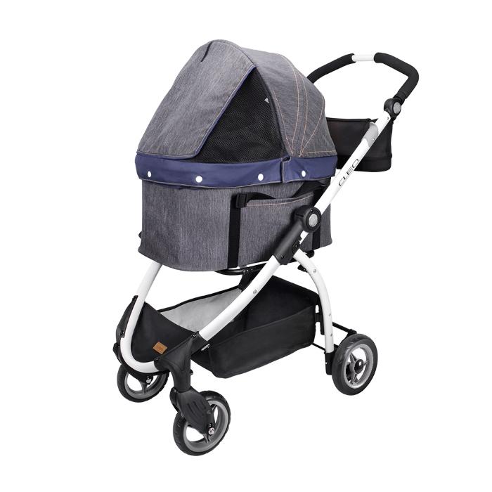 Ibiyaya Cleo Denim Multifunctional Pet Stroller
