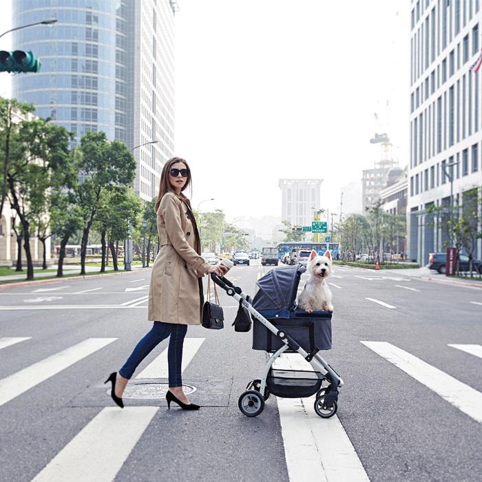 Ibiyaya Cleo Multifunctional Pet Stroller & Car Seat Travel System Denim