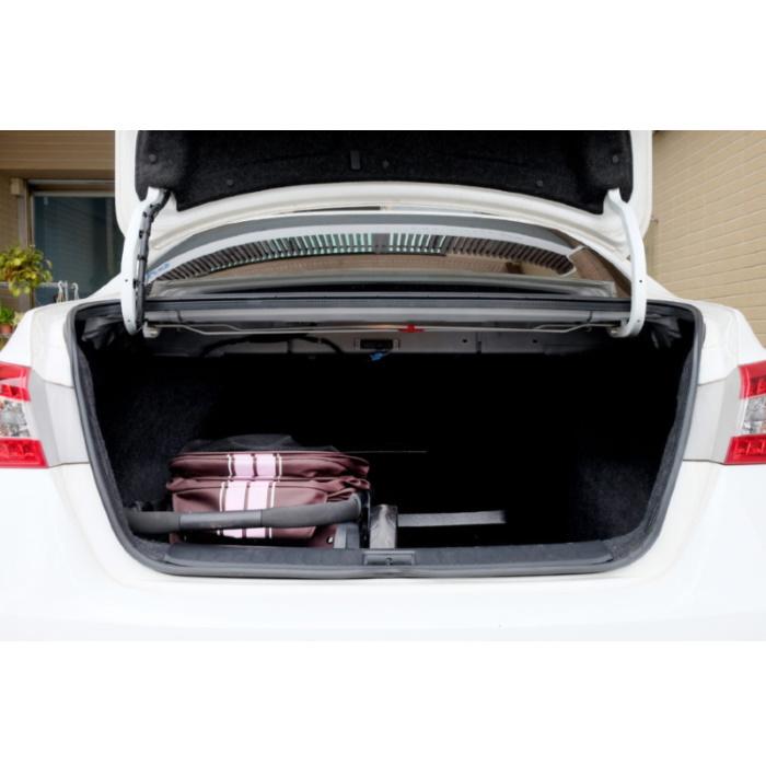 Ibiyaya Collapsible Retro Dog Stroller car boot storage