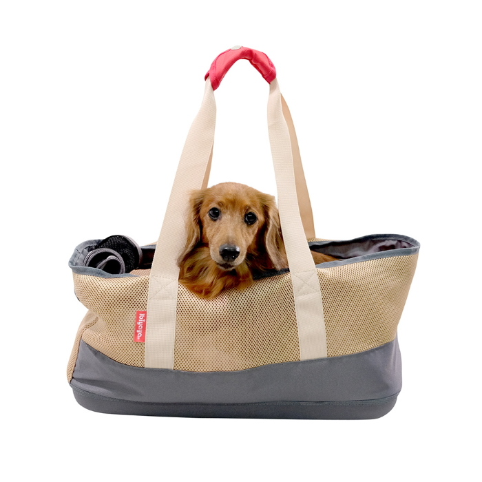 Ibiyaya Pet Carrier Tote for Dachshunds & Long Pets_Khaki