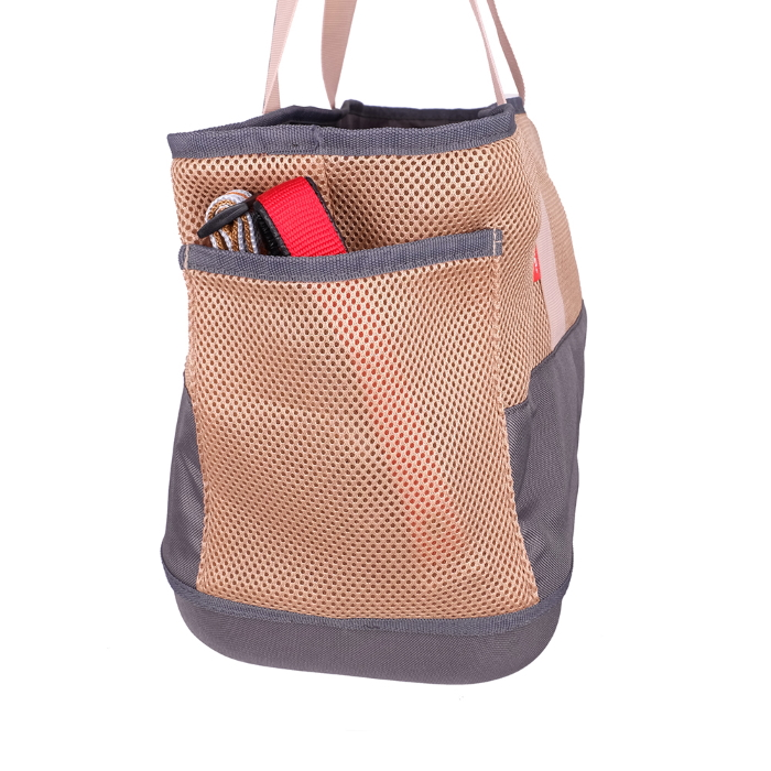 Ibiyaya Pet Carrier Tote for Dachshunds & Long Pets_Khaki_storage pocket