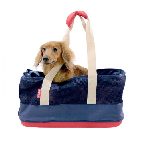 Ibiyaya Pet Carrier Tote for Dachshunds & Long Pets_Navy