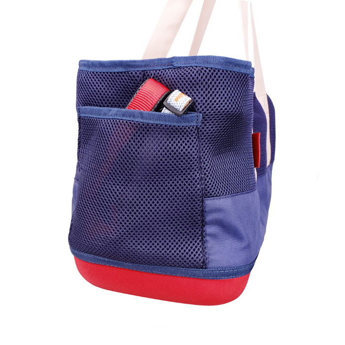 Ibiyaya Pet Carrier Tote for Dachshunds & Long Pets_Navy_storage pocket