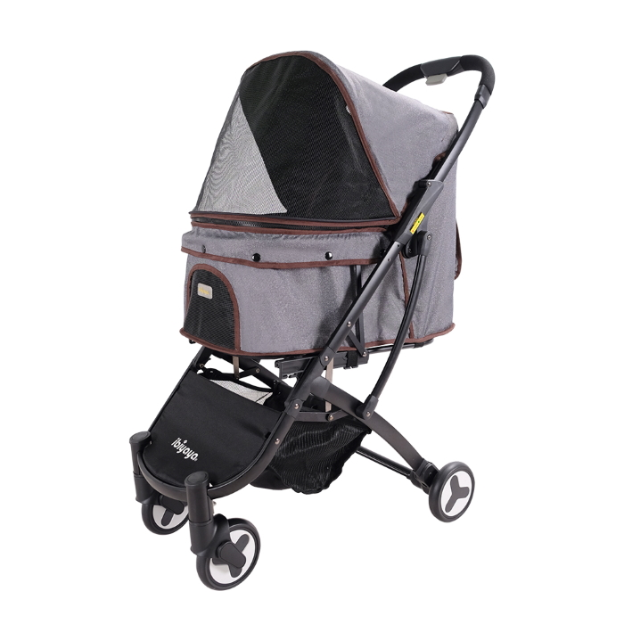 Ibiyaya Speedy Fold Compact Pet Buggy Grey Denim