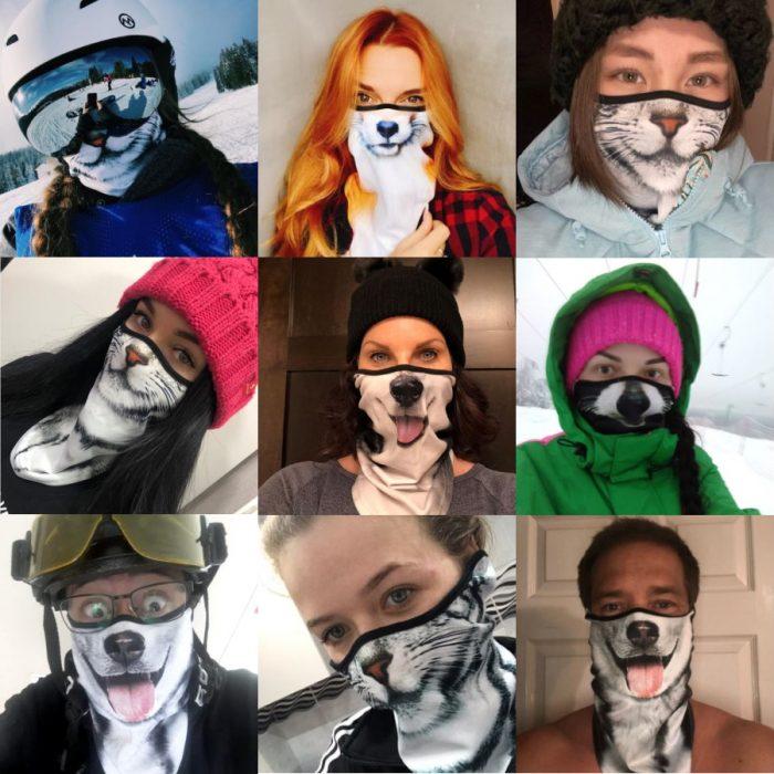 Novelty Dog Cat Animal Face Masks