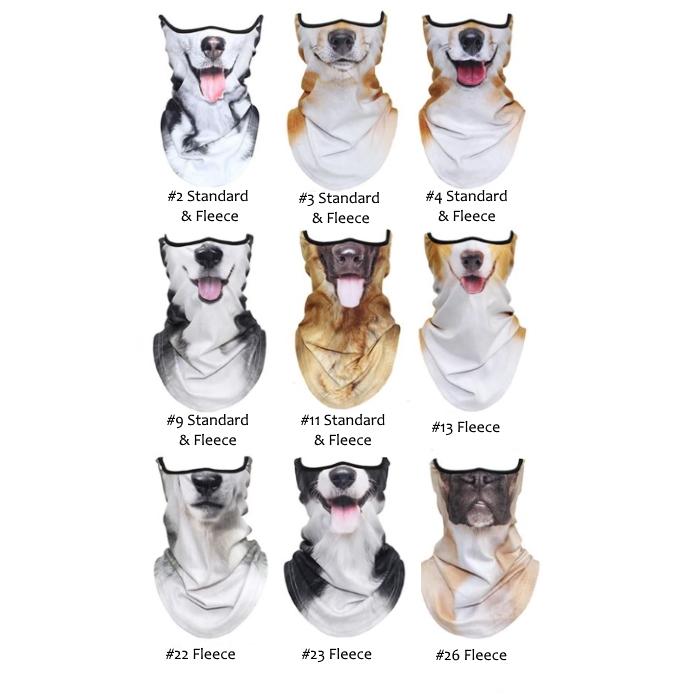 Novelty Dog Face Masks_Range