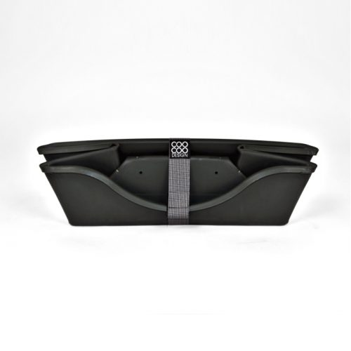 Wonderfold Collapsible Dog Bed Dark Grey Folded