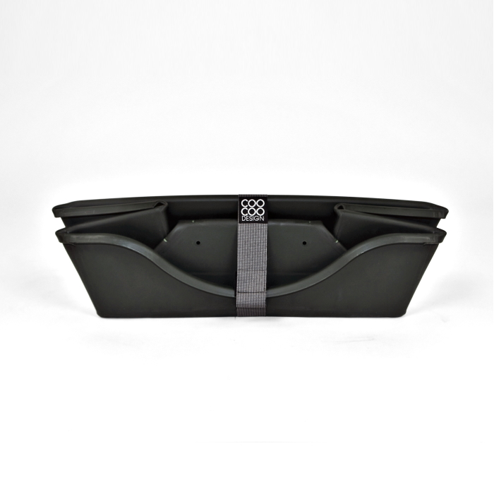 Wonderfold Collapsible Dog Bed Dark Grey Folded
