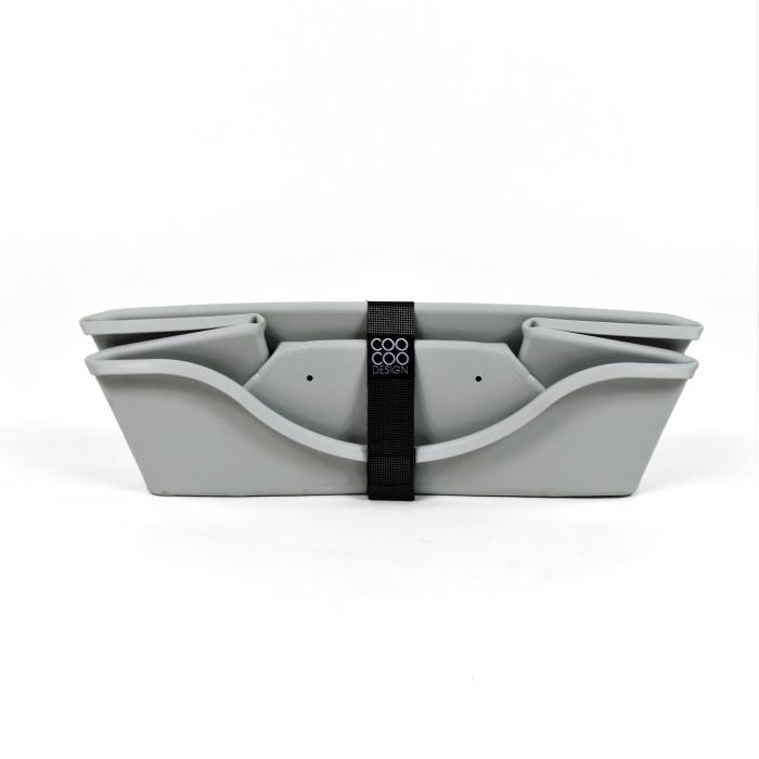 Wonderfold Collapsible Dog Bed Light Grey Folded