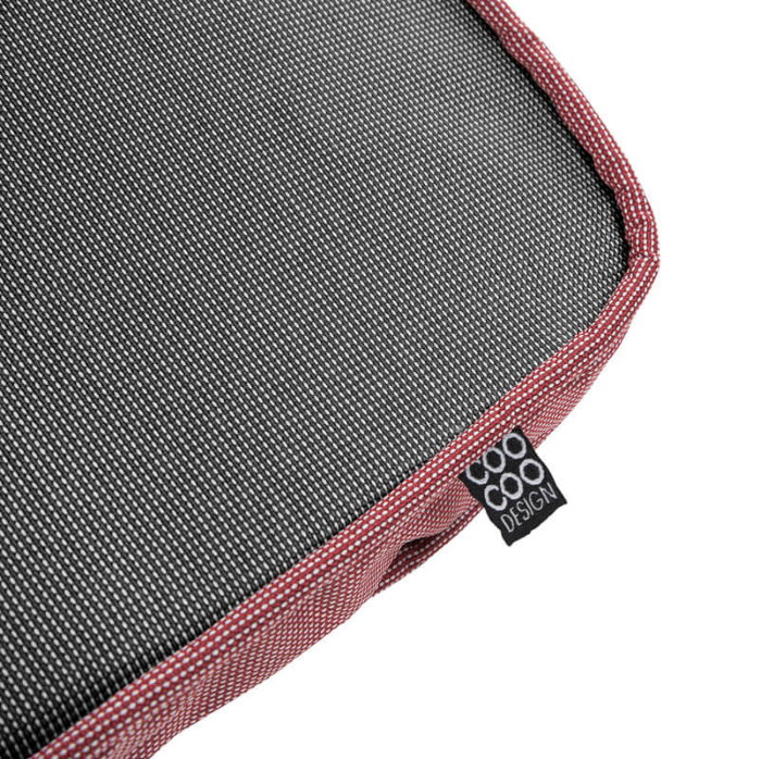 Wonderfold Collapsible Dog Bed Red&Black Cushion Detail