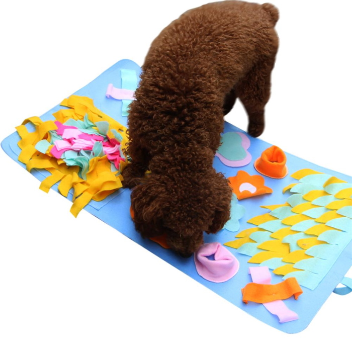 Interactive Dog Snuffle Nosework Mat Blue Flowers Dimensions