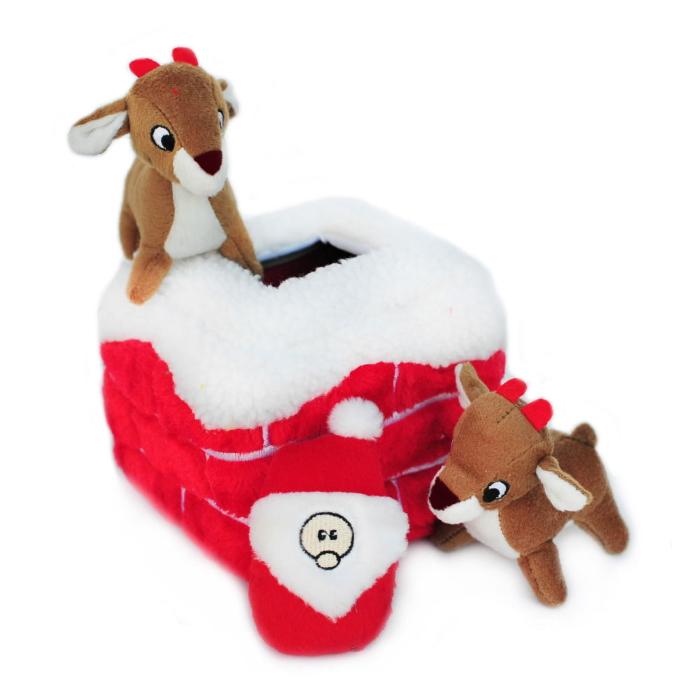Zippy Paws Holiday Burrow Chimney Christmas Dog Toy