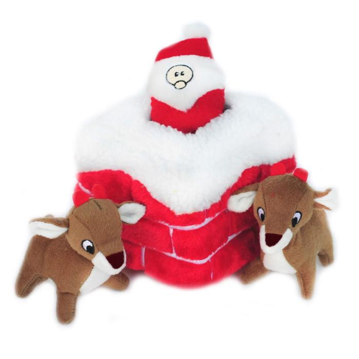 Zippy Paws Holiday Burrow Chimney Dog Toy