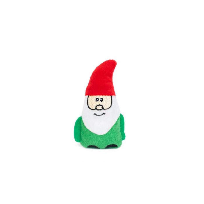 Zippy Paws Holiday Burrow Gnomes in Mushroom Dog Toy