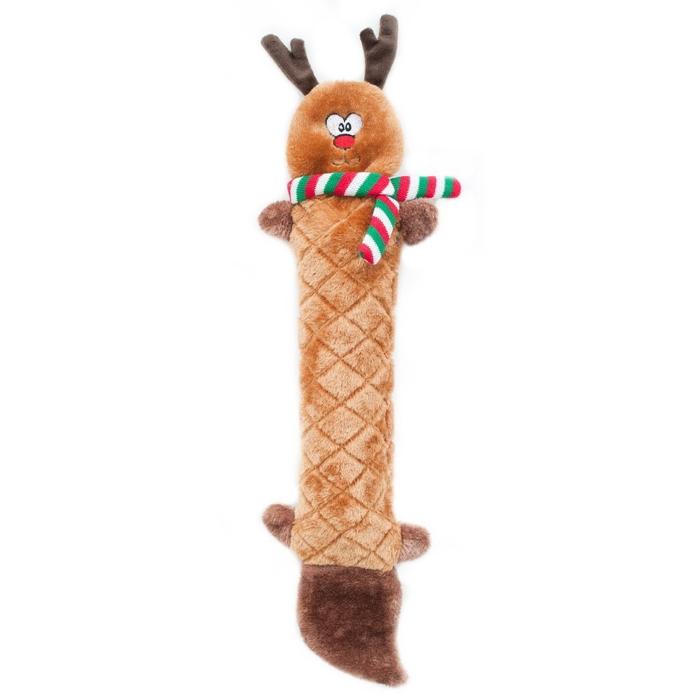 Zippy Paws Jigglerz Holiday Reindeer Christmas