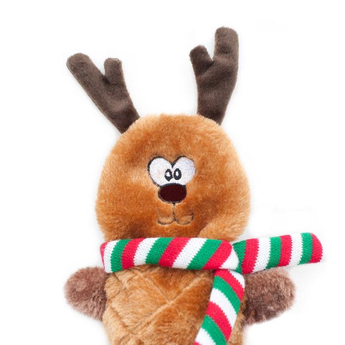 Zippy Paws Jigglerz Holiday Reindeer Dog Toy