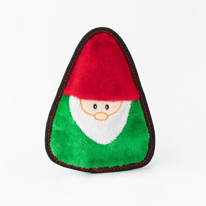 Zippy Paws Z-Stitch Holiday Gnome Dog Toy Christmas