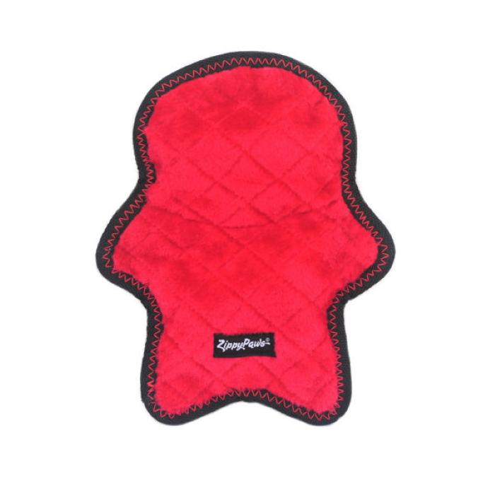 Zippy Paws Z-Stitch Holiday Santa Dog Toy Back