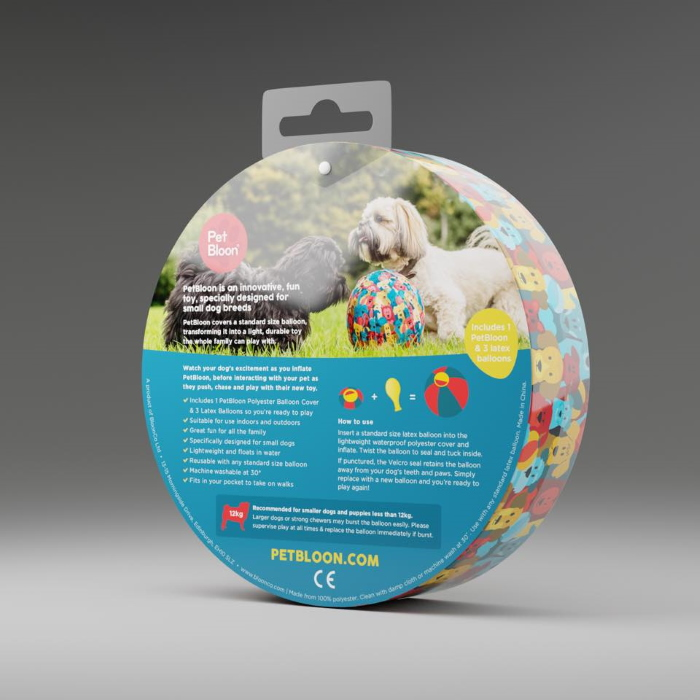 PetBloon Interactive Balloon Dog Toy Packaging back