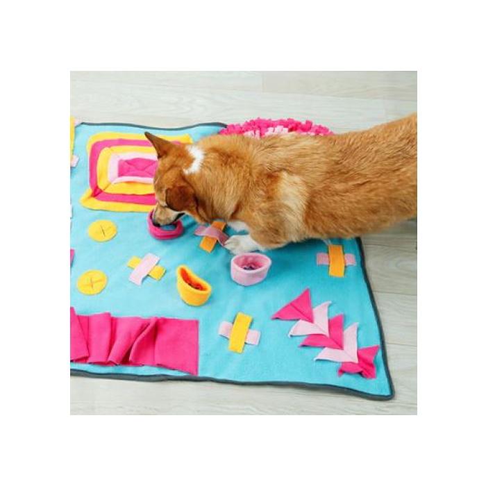Dog Snuffle Activity Mat Blue_Orange_Pink