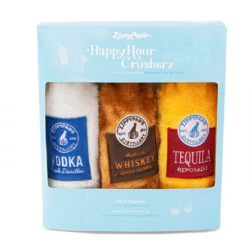 Zippy Paws Happy Hour Spirits Crusherz Dog Toy 3 pack