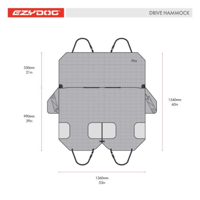EzyDog_Drive_Hammock_Car Seat Cover_dimension